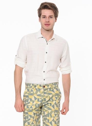 Desenli Slim Fit Uzun Kollu Gömlek-Phazz Brand